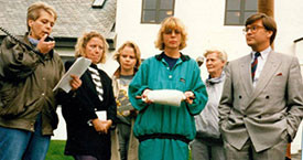 Snjólaug Guðmundsdóttir, Sigrún Hjartardóttir, Elísabet Þorgeirsdóttir, María Jóhanna Lárusdóttir, Laufey Jakobsdóttir og Þorsteinn Pálsson forsætisráðherra