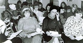 Á að bjóða fram til Alþingis? Helga Sigrún Sigurjónsdóttir, Friðbjörg Ingimarsdóttir, Anna Ólafsdóttir Björnsson og Helga Jóhannsdóttir janúar 1983