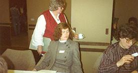 Guðrún Halldórsdóttir, Margrét Björgólfsdóttir og Solveig Jónsdóttir