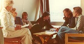 1982 Laufey Jakobsdóttir, Sigríður Dúna Kristmundsdóttir, Ína Gissurardóttir, Elísabet Guðbjörnsdóttir, Kristín jónsdóttir og Lára V. Júlíusdóttir