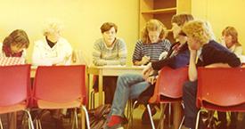 1982 Snjólaug Stefánsdóttir, Laufey Jakobsdóttir, Ingibjörg Hafstað, Kristín Jónsdóttir, Sigrún Sigurðardóttir, María Jóhanna Lárusdóttir og Ína Gissurardóttir