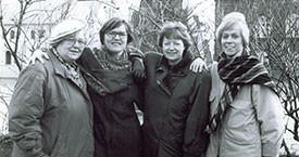1991 Guðrún Halldórsdóttir, varaþingkona og þingkonurnar Kristín Einarsdóttir, Kristín Ástgeirsdóttir og Ingibjörg Sólrún Gísladóttir