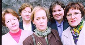 Þingflokkurinn 1991-1994. Kristín Ástgeirsdóttir, Jóna Valgerður, Ingibjörg Sólrún Gísladóttir, Anna Ólafsdóttir Björnsson og Kristín Einarsdótiróttir