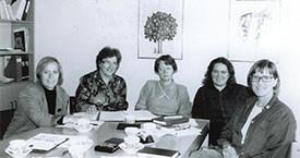 Ingibjörg Sólrún Gísladóttir, Jóna Valgerður Kristjánsdóttir, Kristín Ástgeirsdóttir, Anna Ólafsdóttir Björnsson og Kristín Einarsdóttir