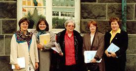 Kristín Einarsdóttir, Anna Ólafsdóttir Björnsson, Guðrún Halldórsdóttir, Kristín Ástgeirsdóttir og Jóna Valgerður Kristjánsdóttir