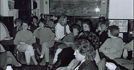 1987 Danfríður Skarphéðinsdóttir, Guðrún Agnarsdóttir, Kristín A. Árnadóttir, Laufey Jakobsdóttir, Borghildur Mack, Dóra G, Guðný Guðbjörnsdóttir, Ína Gissurardóttir, Eygló Stefánsdóttir og Margrét Sæmundsdóttir funda