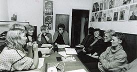 Kosningaundirbúningur á Víkinni 1987