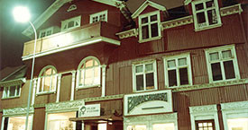Hótel Vík við Hallærisplanið. Aðsetur Kvennaframboðs og Kvennalista 1981-1988