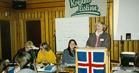 Birna Lárusdóttir, óþekkt, Kristín Blöndal og Elín G. Ólafsdóttir