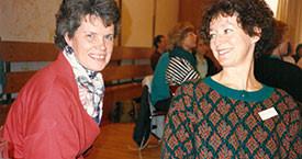 Kristín Halldórsdóttir og Guðrún Agnarsdóttir