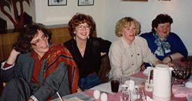 Guðný Guðbjörnsdóttir, Magdalena Schram, Þórhildur Þorleifsdóttir og Kristín Sigurðardóttir