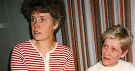 Kristín Halldórsdóttir og Svava