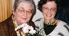 Guðrún Halldórsdóttir og Hulda Ólafsdóttir