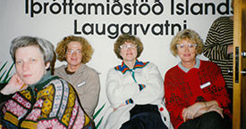 Sigrún Helgadóttir, Kristín Jónsdóttir, Hómfríður Árnadóttir og Ína Gissurardóttir