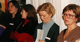 Anna Ólafsdóttir Björnsson, Steinunn Valdís Óskarsdóttir, Sigrún Jónsdóttir og Kristín Árnadóttir