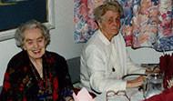 María Þorsteinsdóttir (d. 1995) og Laufey Jakobsdóttir (d. mars 2004)