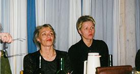 Hólmfríður Garðarsdóttir og Ásdís Olsen