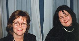Kristín Árnadóttir og Kristín Blöndal