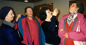 Elín Guðmundsdóttir, Bryndís Jónsdóttir, Guðrún Guðmundsdóttir og Kristín Halldórsdóttir
