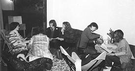 Kristín Ástgeirsdóttir, Sigrún Sigurðardóttir og Kristín Jónsdóttir 1982