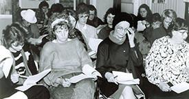 Helga Sigrún Sigurjónsdóttir, Friðbjörg Ingimarsdóttir, Anna Ólafsdóttir Björnsson og Helga Jóhannsdóttir 1983