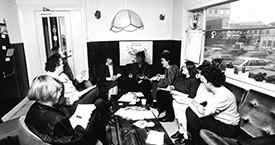 Ónefnd, Sólveig Jónsdóttir, Ína Gissurardóttir, Guðný Guðmundsdóttir, Anna Ólafsdóttir Björnsson, Danfríður Skarphéðinsdóttir og Guðrún Agnarsdóttir 1984
