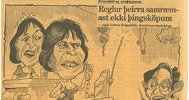 """""""Reglur þeirra samrýmast ekki þingsköpum."""" Sigmund 1988."""