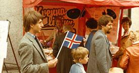 Útimarkaður í miðbænum 17. júní 1984