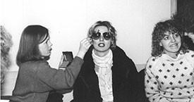 Edda Björgvinsdóttir og Helga Thorberg 1983