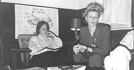 Ingibjörg Sólrún Gísladóttir og Sigríður Dúna Kristmundsdóttir 1986