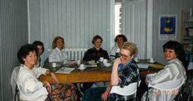 1988 júní Guðrún Agnarsdóttir, Sigrún Jónsdóttir, Elísabet Þorgeirsdóttir, Guðrún Guðmundsdóttir, Guðrún Jónsdóttir og Stella Hauksdóttir