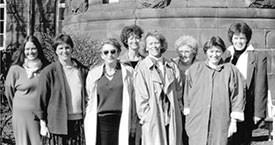 Anna Ólafsdóttir Björnsson, Kristín Einarsdóttir, Málmfríður Sigurðardóttir, Guðrún Agnarsdóttir, Þórhildur Þorleifsdóttir, Guðrún Halldórsdóttir, Danfríður Skarphéðinsdóttir og Kristín Halldórsdóttir