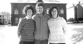 Guðrún Agnarsdóttir, Kristín Halldórsdóttir og Kristín Einarsdóttir