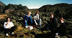 Anna Ólafsdóttir Björnsson, Þórhildur Þorleifsdóttir, Kristin Halldórsdóttir, Málmfríður Sigurðardóttir og Danfríður Skarphéðinsdóttir
