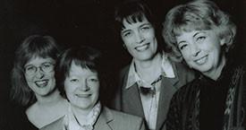 Þórunn Sveinbjarnardóttir, Kristín Ástgeirsdóttir, Guðný Guðbjörnsdóttir og María Jóhanna Lárusdóttir, Kvennalistakonurnar í efstu sætunum í Reykjavík 1995