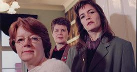 1995 Kristín Ástgeirsdóttir, Kristín Halldórsdóttir og Guðný Guðbjörnsdóttir, þingkonur