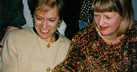 Hver á flottasta varalitinn? Ingibjörg Sólrún Gísladóttir og Guðrún Ögmundsdóttir