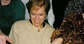 Þvílíkir varalitir. Kristín Ástgeirsdóttir, Birna Sigurjónsdóttir, Ingibjörg Sólrún Gísladóttir og Þórunn Sveinbjarnardóttir