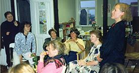 Óþekkt, Hulda Ólafsdóttir, Sigrún Ágústsdóttir, Kristín Einarsdóttir, Kristín Ástgeirsdóttir, Ingibjörg Sólrún Gísladóttir
