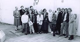 Aftari röð: Laufey, Hólmfríður, Stella, Elín Vigdís, María Jóhanna. Fremri röð: Hulda, Ólafur, Ína, Kristín J, Guðrún, Helga, Guðný, Elín G. Fanney, Sigrún, Kristín, Margrét