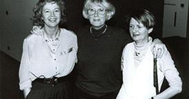 Margrét Sæmundsdóttir, Elín G. Ólafsdóttir og Guðrún Ögmundsdóttir árið 1992