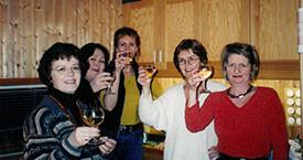 Hulda Stefánsdóttir, Kristín Blöndal, Sigrún Helga, Kristín Árna og Guðrún Ögmunds