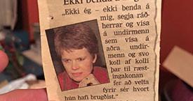 ``Ekki benda á mig`` - Kristín Halldórsdóttir