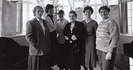 Þórhildur Þorleifsdóttir, Kristín Halldórsdóttir, Kristín Einarsdóttir, Málmfríður Sigurðardóttir, Guðrún Agnarsdóttir og Danfríður Skarphéðinsdóttir