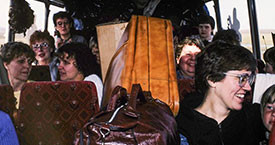 Fremst frá vinstri: Guðrún og Ingibjörg Guðmundsdætur, Hólmfríður Árndóttir og Katrín Oddsdóttir. Aftar: Friðbjörg og Hólmfríður
