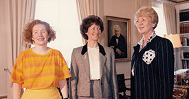 Kristín Karlsdóttir, Guðrún Agnarsdóttir og Vigdís Finnbogadóttir