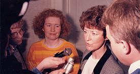 Kristín Karlsdóttir og Guðrún Agnarsdóttir