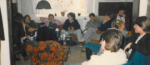 Frá stofnfundi kvennahóps Samtakanna ´78 Íslensk-lesbíska sem haldinn var á Hótel Vík árið 1985.